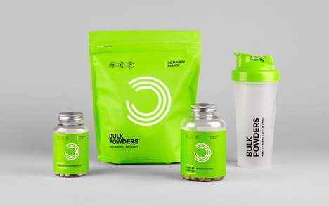 Medicinal Protein Packaging - Bulk Powders' New Brand Identity Takes Cues From Pharmaceuticals