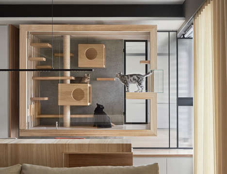 Contemporary Cat Habitats - The INDOT Cats Paradise is a Dynamic Space for Your Furry Flatmate