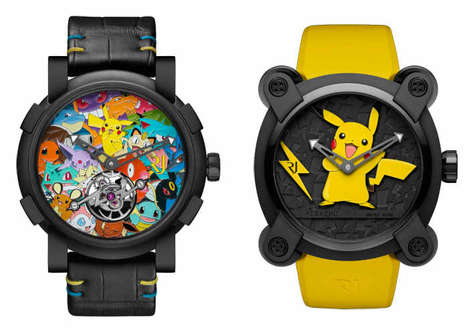 Opulent Anime Timepieces - The Romain Jerome Tourbillon Pokémon Watch is Priced at $258,000