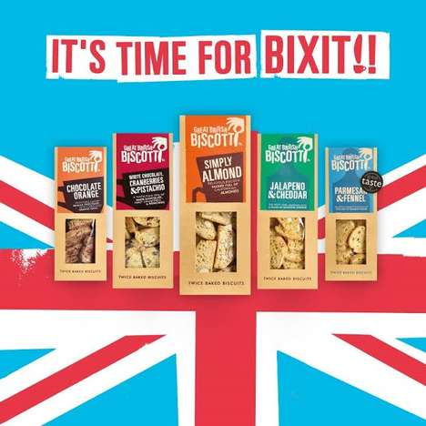 Political Biscuit Campaigns - The Great British Biscuit Company is Preparing for 'Bixit'
