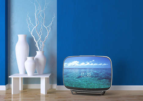 Flat-Screen Retro TVs - The 'Teleavia Retro' TV Design Sports Modern and Vintage Accents