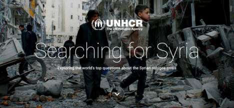 Interactive Syrian Refugee Sites - 'Searching for Syria' is a Partnership Between the UN and Google