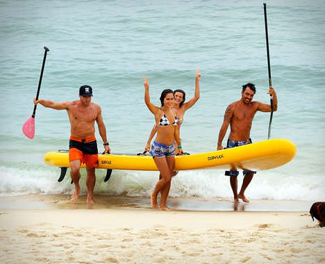 Ten-Person Paddle Boards - The 'Supflex BigSup' Inflatable Paddle Board Holds Up to 1,550 Pounds