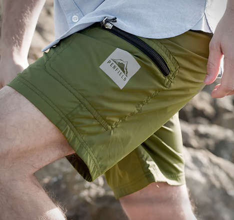 Packable Day Trip Shorts - The Penfield Pac Shorts Can be Stored in Bags or Glove Compartments