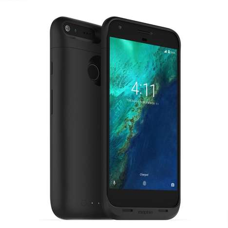 Powerful Modern Battery Packs - The Mophie Google Pixel XL Pack Adds 50 Hours of Use Time
