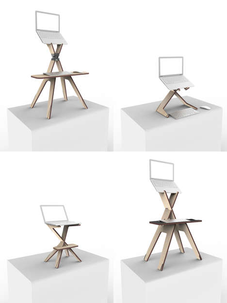 Personalized Standing Desks - The Stan by Twikit is Laser-Cut to Consumer Specifications