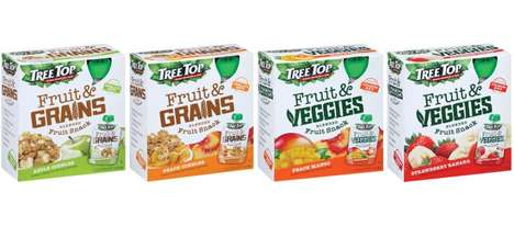 Fruit Grain Snack Pouches - The Tree Top's Fruit & Grains Pouches are Blended for Picky Eaters