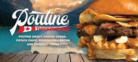 Poutine-Packed Burgers - The Carl's Jr. Poutine Thickburger is Available Exclusively in Canada