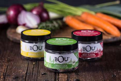 Bold Bouillon Cube Branding - The BOU Bouillon Cubes are Modernly Packaged for Hip Consumers