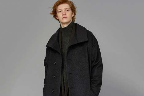 Timeless Oversized Menswear Fashion - The New Trove Collection Features Neutral Hues and Odd Cuts