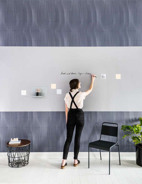 Abstract Workspace Wall Coverings - Visual Magnetics' 'Forces' Collection Features Illusive Designs