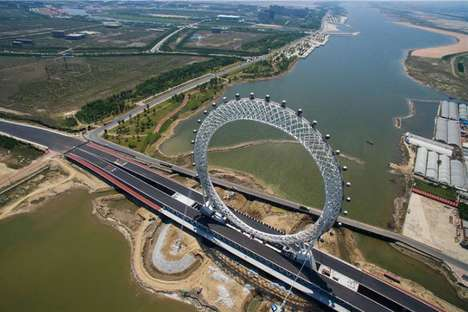 Spokeless Ferris Wheels - China is Now Home to the Bailang River Bridge Ferris Wheel