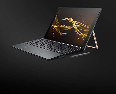Metallic Touchscreen Laptops - The HP Spectre X2 Has an Aluminum Case and Copper-Coated Stand