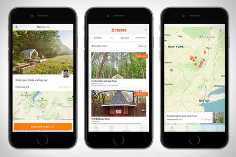 Campsite-Finding Apps - The 'Tentrr' App Finds Camping Campsites for the Perfect Trip