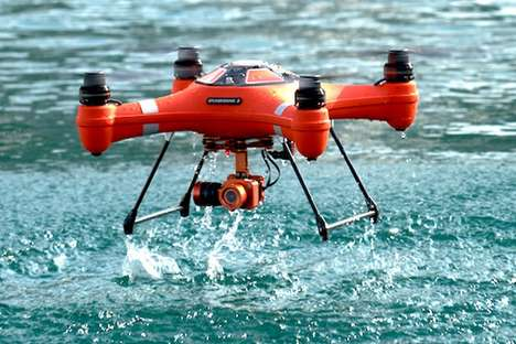 Aquatic HD Action Drones - The Splash Drone 3 Floats on Water and Captures Underwater Shots