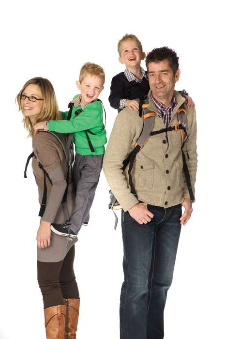 Standing Kid Carrier Backpacks - The 'Piggyback Rider' Lets You Carry Kids Comfortably