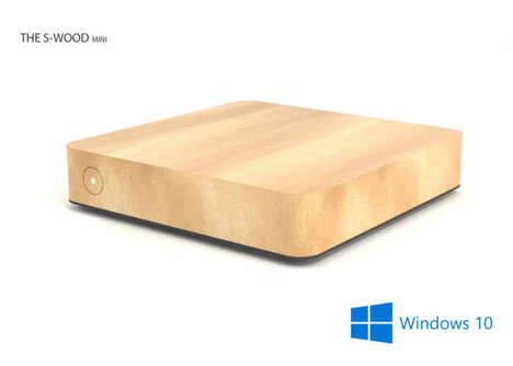 Wooden Passive Cooling PCs - The 'S-WOOD mini' PC Has a Silent Operation and a Chic Design