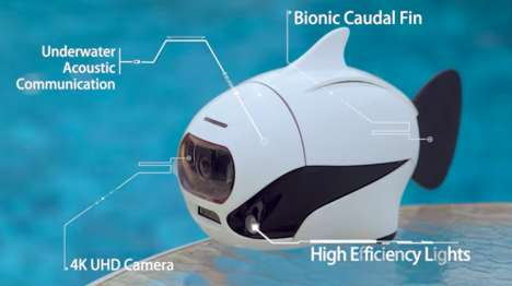 Robotic Fish Cameras - 'BIKI' Swims Autonomously and Dives Deep with a 4K Camera