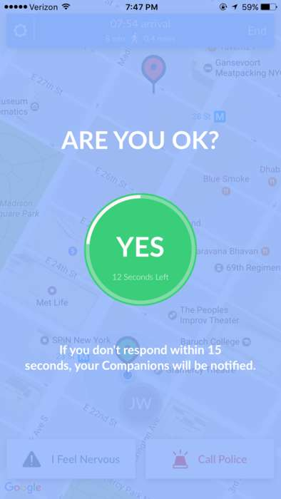 Location-Based Personal Safety Apps - The Companion App Ensures the Safety of Travelers