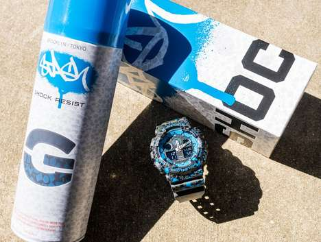Street Artist Timepieces - The G-SHOCK x STASH Limited-Edition Watch is Ruggedly Stylish
