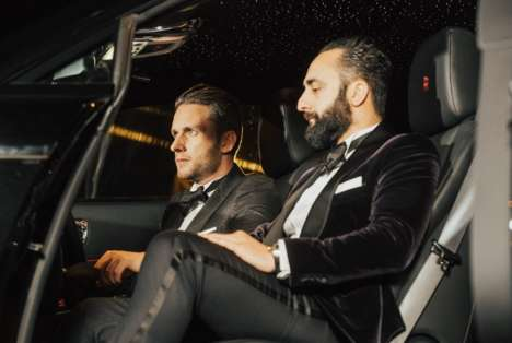 Luxury Car Brand Tuxedos - Rolls Royce and The Bespoke Corner Collaborated on Two Tuxedos for Men