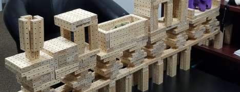 Connecting Freeform Building Blocks - The 'ArkoBlox' Wood Design Blocks are Simple to Start Using