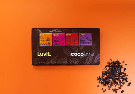 Personified Chocolate Packaging - Luvit Cocoisms Gives Personality to Four Different Chocolate Types