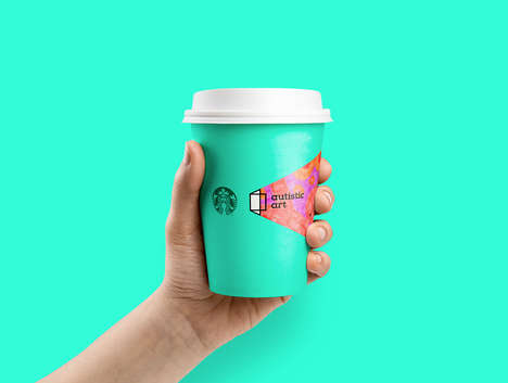 Inclusive Brand Packaging - Autistic Art is Branding Starbucks Cups and Credit Cards With Its Works