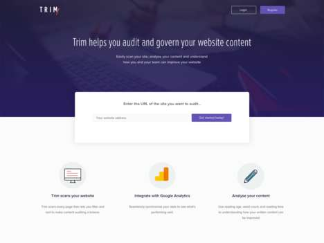 Website-Optimizing Solutions - 'Trim' Can Audit Your Website and Track Content Performance