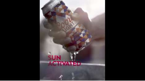 Sun-Activated Beer Cans - Coors Light's New 'Summer Certified' Beer Cans Change Color in the Sun