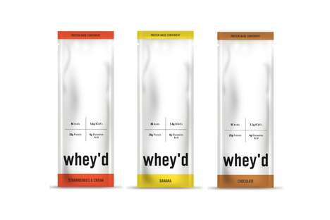 Individual Whey Protein Sachets - The whey'd Healthy Protein Powders Have a Designer Packaging