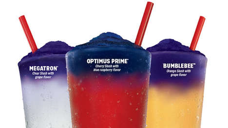 Color-Changing Celebratory Frozen Slushies - The Sonic Color Changing Slushes Celebrate Transformers