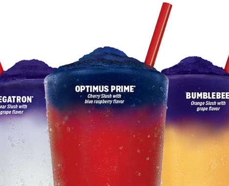 Color-Changing Celebratory Frozen Slushies