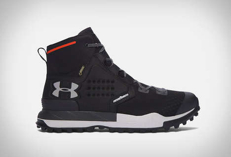 Tire Sole Hiking Boots - The Under Armour Newell Ridge Mid GTX Supports Your Ankles
