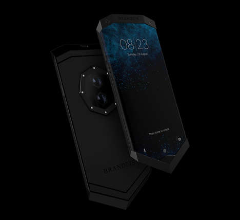 Angular Ergonomic Smartphones - The Brandeis 'Prometheus' Smartphone Has Sharp Aesthetics