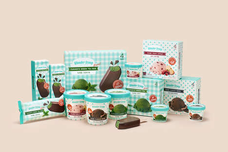 Whimsical Vintage Dessert Packaging - Wonder Scoop's Ice Cream Comes in Distinct Flavors