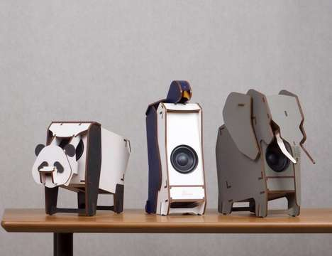 DIY Wooden Animal Speakers - The 'Stereo Puzzle' Comes with Everything to Build Your Own Speaker