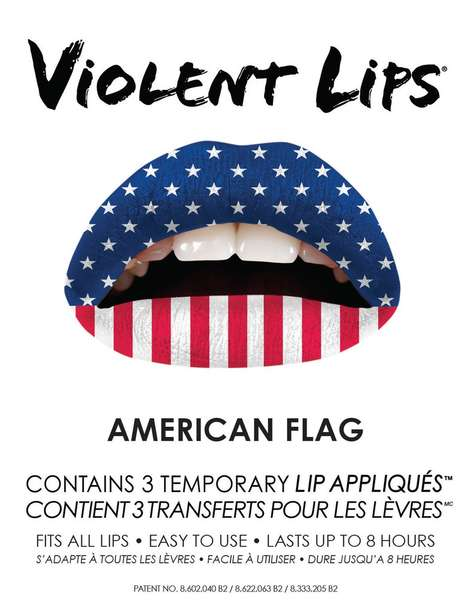 Americana Lip Stickers - These Memorial Day Lip Stickers are a Great Way to Celebrate