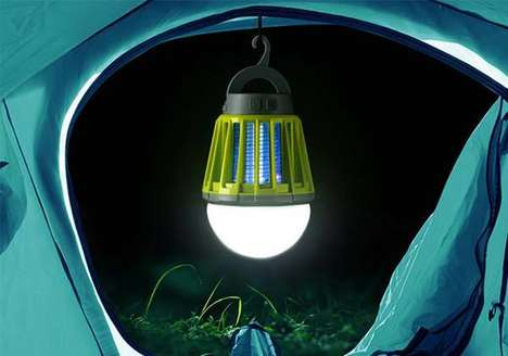 Mosquito-Killing Lanterns - The Mosquito Zapper LED Lantern Illuminates Areas and Kills Pests