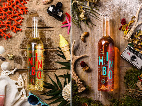 Quirky Wine Bottle Graphics - Mimbo Wines Come in Quirky Bottles with Playful Graphics