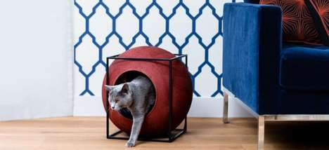 Cubic Cat Houses - 'The Cat Cube' is Designed to Keep Cats Happy and Furniture Scratch Free