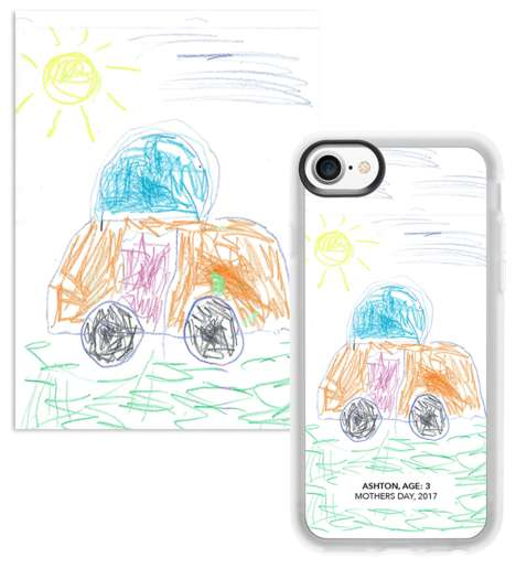 Kid-Designed Smartphone Cases - Casetify Kids Lets Parents Decorate Their Smartphones with Drawings