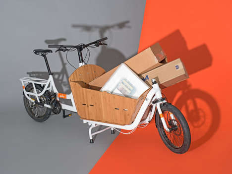 Utility Cargo Bikes - The Yuba Supermarche Cargo Bike Can Haul Up to 300 Lbs Plus a Rider