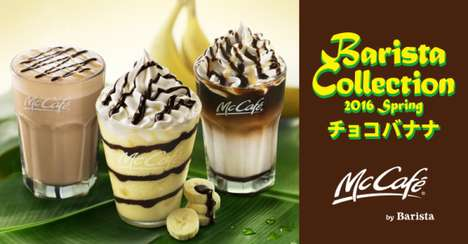 Exclusive Chocolate Banana Smoothies - These Seasonal McCafé by Barista Drinks Were Offered in Japan