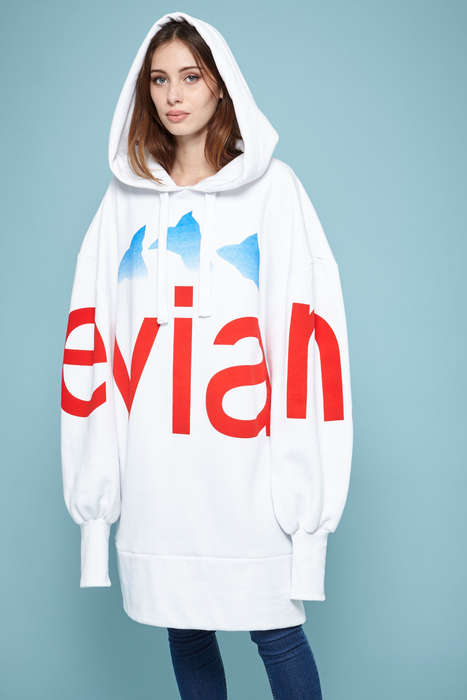 Water Brand Streetwear - Rad and Evian Collaborated on an Oversized Streetwear Collection