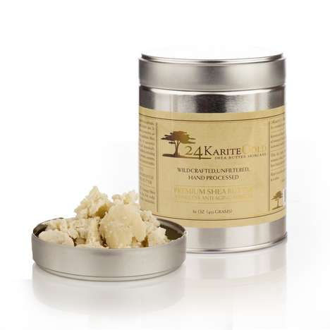 Lavish Shea Butter Skincare - 24 Karite Gold's Raw Shea Butter Evens Skintone and Reduces Wrinkles