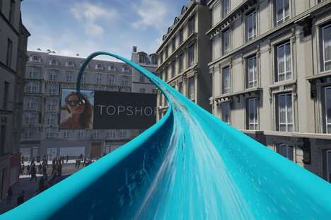 VR Retail Waterslides - Topshop is Inviting Consumers to Take a Ride on Its Virtual 'Splash' Slide