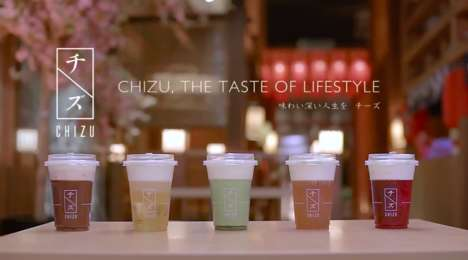 Cheese-Topped Tea Drinks - CHIZU Brands Itself as Malaysia's Premium 'Cheese Drink'