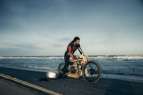 Algae-Based Motorcycles - Ritsert Mans' Motorcycle is Made from Wood and Runs on Algae Oil