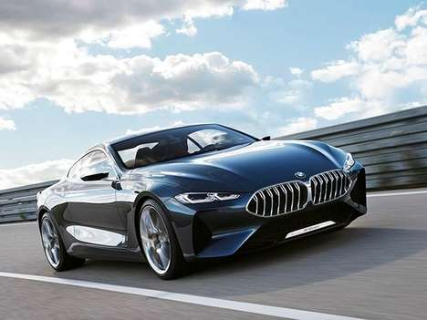Iconic Coupe Revivals - The Bmw 8 Series Concept Previews the Automaker's New Flagship Two-door